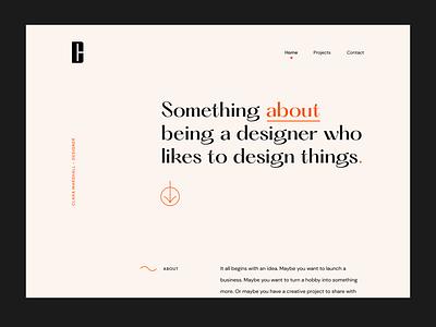 Portfolio Site webdesigner figma css animation toronto website animation interaction design uxdesign uidesign webdesign