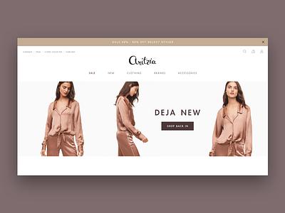 Aritzia Site Re-Design typography e-commerce ui shop web design branding