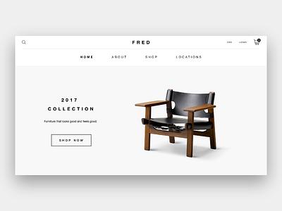 F R E D interior design graphic design design landing page web design