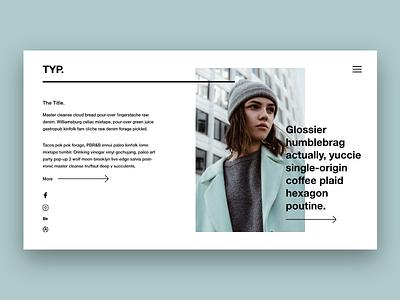 T Y P ui ux typography interior design graphic design design landing page web design