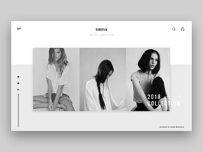 U N N A branding ui ux grey graphic design web design