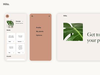 Hillo. website plant plants ux design uiux uidesign ui minimal design application ui application app design app