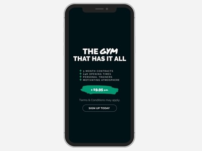 Gym WordPress Theme Slider - iPhone X View