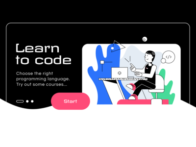 Man coding - Illustration for blog
