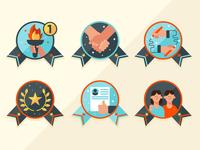 Award badges icons branding logo design illustration vector