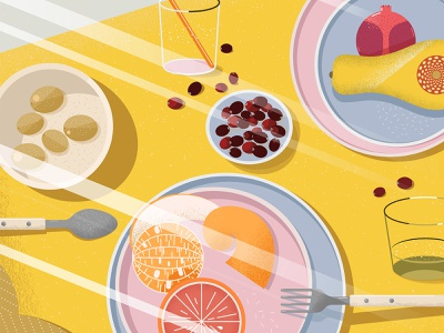 Still here still life 41 texture fruits breakfast food yellow design illustration vector