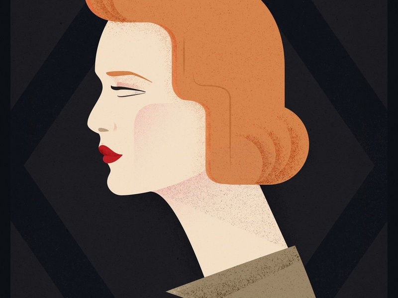 Scully art deco poster tv series poster the x-files dana scully woman design girl illustration vector