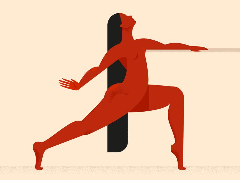 Barre vector sport gymnastics red girl