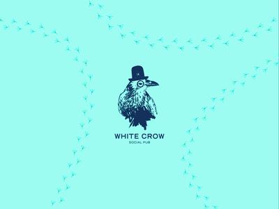 White Crow Social Pub Logo