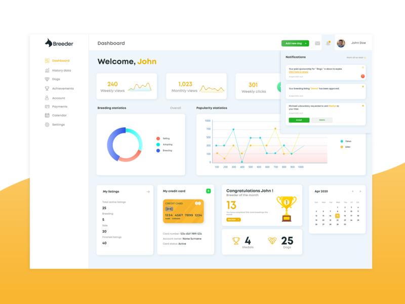 Dashboard design design ux app ui