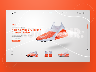 Nike landing page clean website design ux ui page landing shoes nike