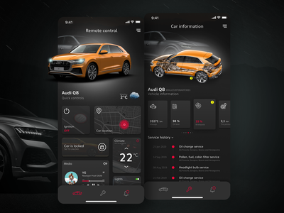 Audi smart car app cars design service garage car smart ux ui audi