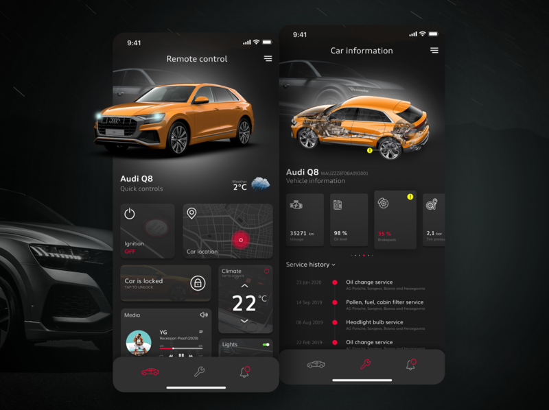 Audi smart car app cars design service garage car smart ux ui audi
