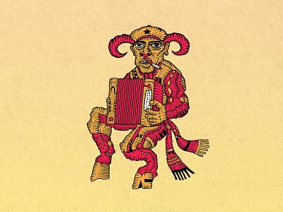 Soviet Pan socialism satyr pan ussr soviet fairy tale fairytale communism vector symbol russia illustration graphic emblem dribbble
