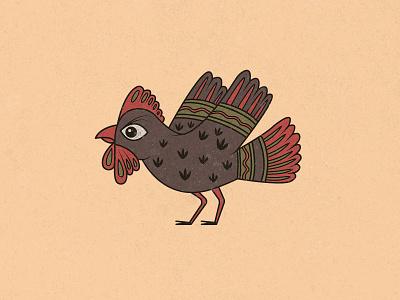 Folk chicken russian hen chicken folklore folk slavic fairy tale fairytale vector symbol russia illustration graphic emblem dribbble