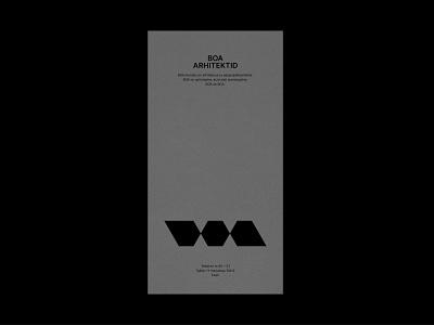BOA arhitektid! graphic design icon flat minimal typography vector logo branding design