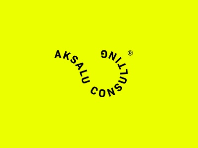 Aksalu Consulting® (unofficial) minimal logo flat graphic design design branding