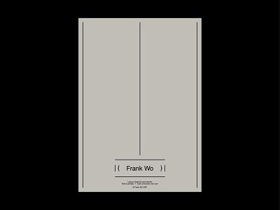 Frank Wo type typography logo branding minimal graphic design flat design