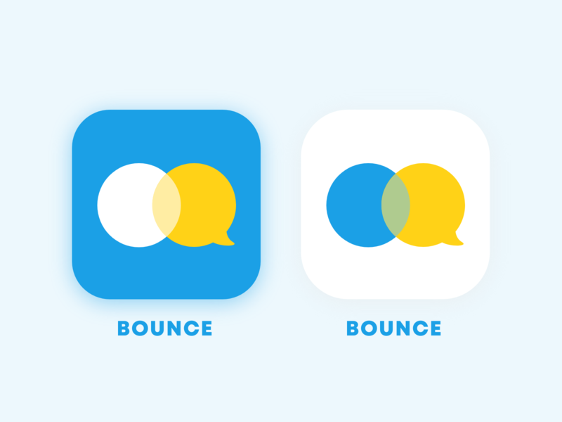Bounce - App Icon color bubble chat daily005 logo design brand design brand icon app brand identity dailyui ui margot collavini
