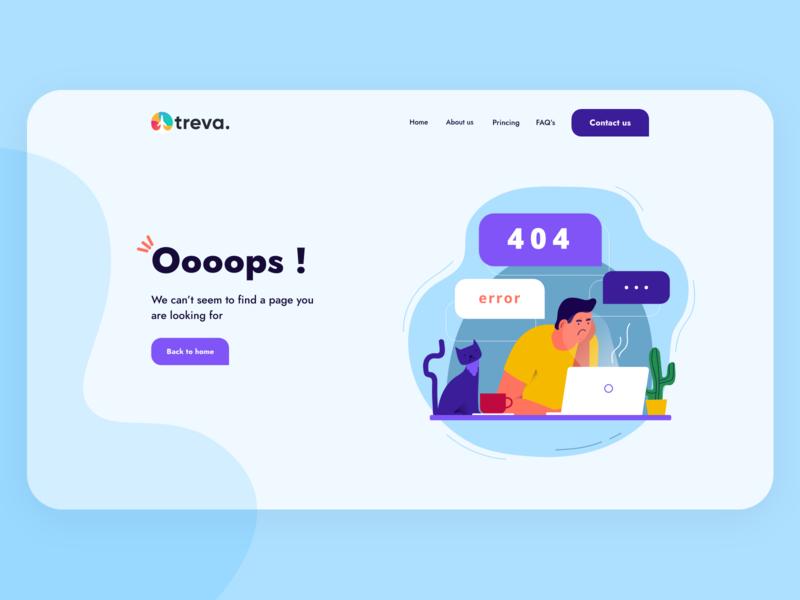 Treva - 404 Error Page