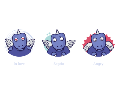 Dino-app Feelings Icons