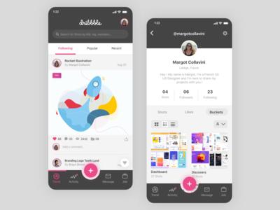 Dribbble - Redesign App