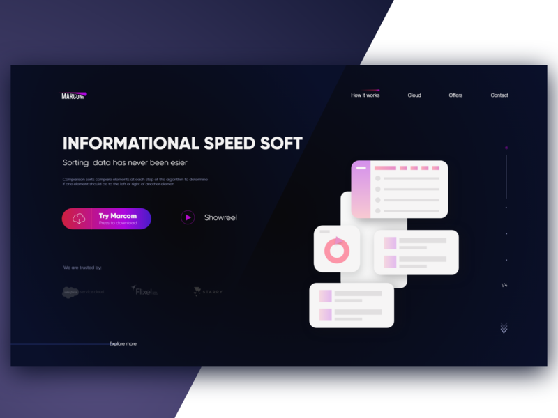 Sorting Data Soft uxdesign uxui ux dark ui dark typography call to action daily logo illustration userinterfacedesign uidesign daily 100 user interface landing page learner design ui dribbble dailyui