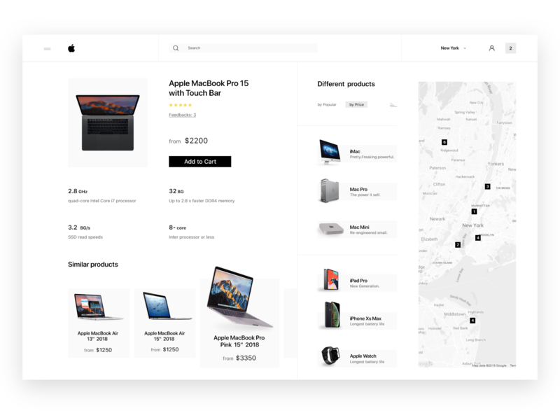 Apple Online Shop ui learning daily userinterfacedesign landing page learner online store online shop uitrends dribbble apple design design userexperience user experience user interface userinterface macbookpro ecommerce redesign apple