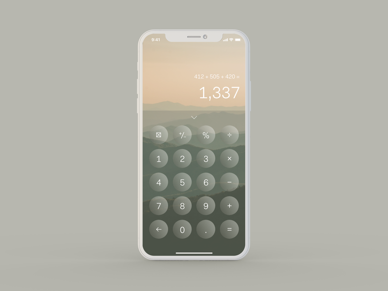 Daily UI 004 — Calculator numbers digital design interface experience user calculator uidesign uiux daily ui 004 dailyui004 dailyui ui