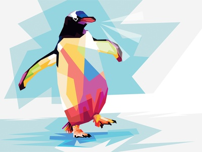 Penguin Adventure - WPAP PopArt