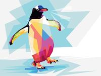 Penguin Adventure - WPAP PopArt