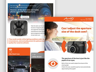 Mio Class newsletter, En. branding newsletter edm dashcam illustration minimal ui infographic