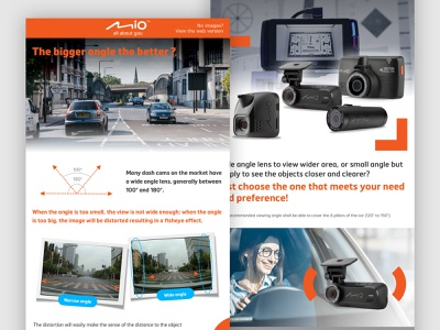 Mio Class newsletter, En. edm ui dashcam newsletter branding