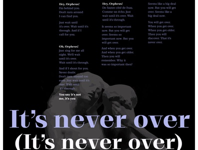 Its never over( It's never over) by Arcade Fire