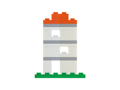 Tiny Lego House by Erik van Bijnen - Dribbble