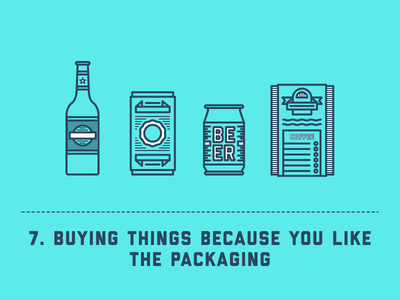 Silly Things Designers Do - #7 line illustration packaging designer