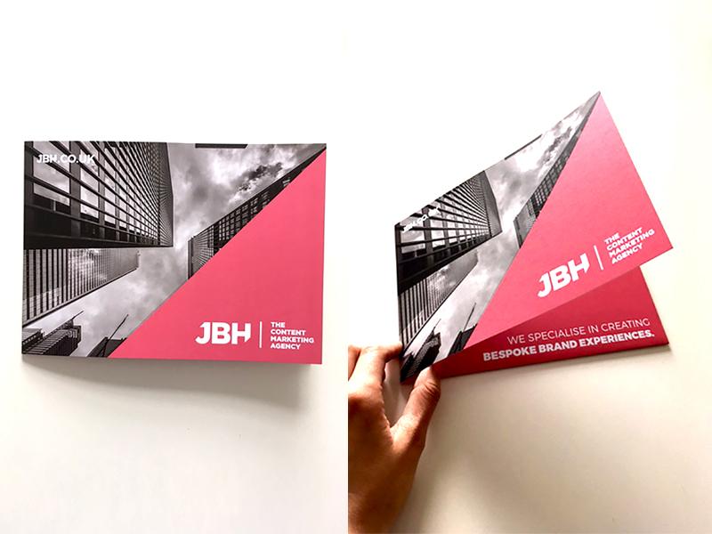 Promotional folder booklet leaflet brochure print agency identity logo branding photography design