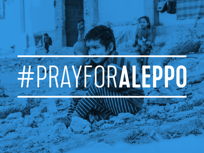 Our thoughts are with the civilians of Aleppo aleppo