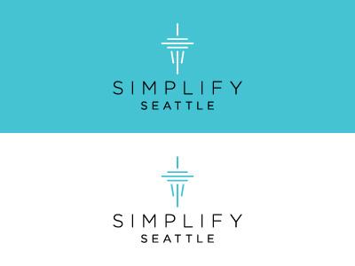 Simplify Seattle seattle space needle logo brand design
