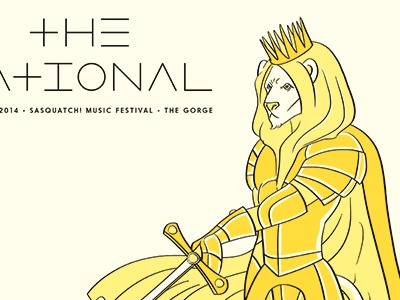 The National sword lion poster print the national illustration