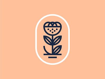 🌷 illustration design branding logo tulip flower