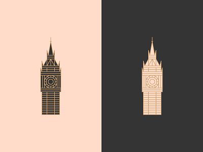 Big Ben england illustration design elizabeth tower big ben london