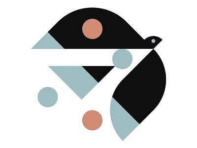 Bird & Circles illustration design bird