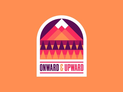 Onward & Upward print trees design sticker outdoors mountain