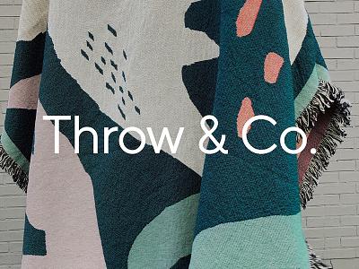 Throw & Co. textile design art woven blanket