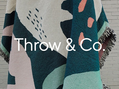 Throw & Co. textile design art woven blanket