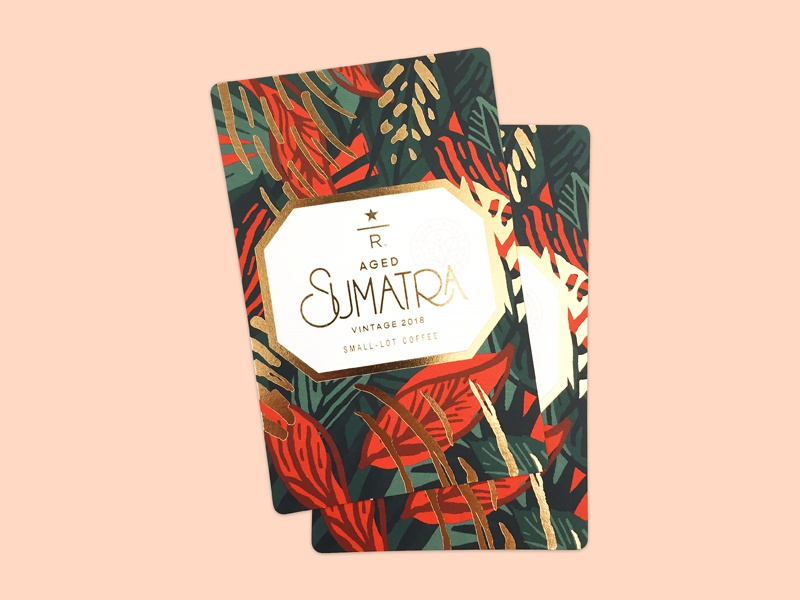 Aged Sumatra 2018 design sumatra foil illustration pattern print coffee reserve starbucks