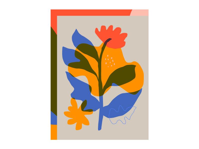 Flowers flower illustrator print multiply overprint illustration flowers