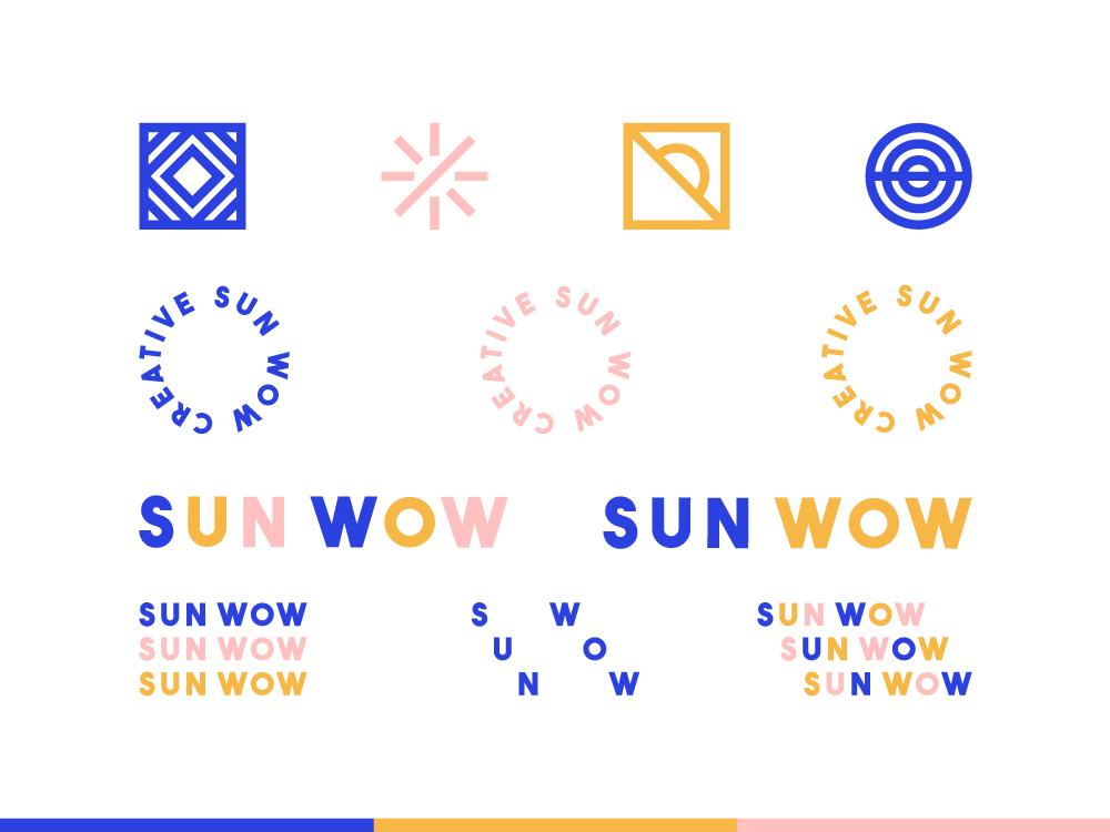 Sun Wow Creative identity design icon logo branding