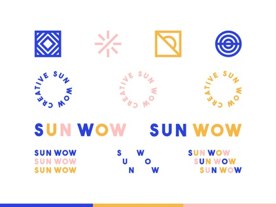 Sun Wow Creative identity design icon logo branding